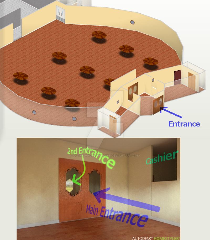 Entrance design restaurant management by divine angel for Homestyler login