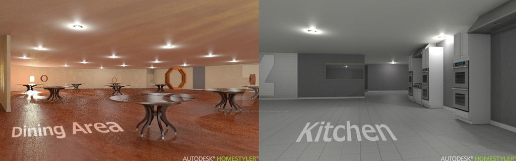 Kitchen and dining area design rest mgnt by divine angel for Homestyler login