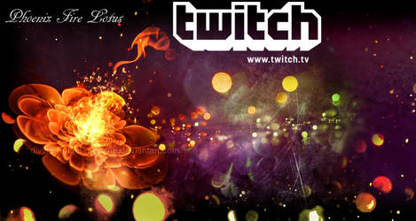Phoenix Fire Lotus Twitch Profile Banner
