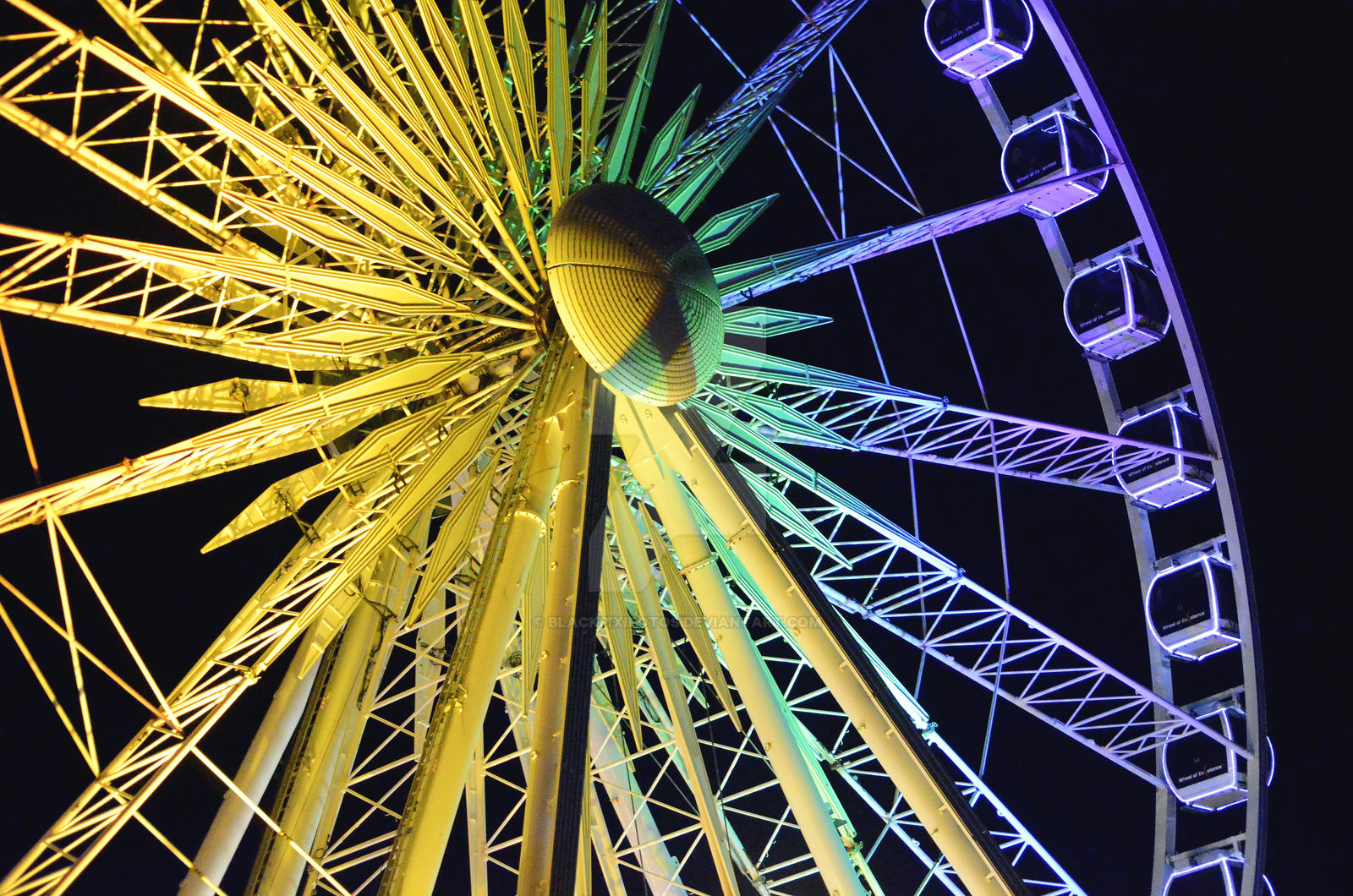 Rainbow wheel by blackpixifotos