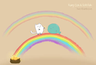 Two Rainbows by WandaRocket