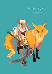 Nini and Flying Fox by WandaRocket