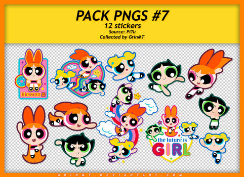 PACK PNGS #7 : THE POWERPUFF GIRLS