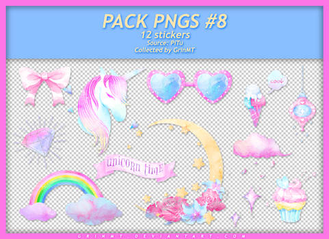 PACK PNGS #8 : UNICORN TIME