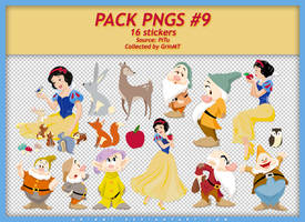 PACK PNGS #9 : SNOW WHITE AND THE SEVEN DWARF