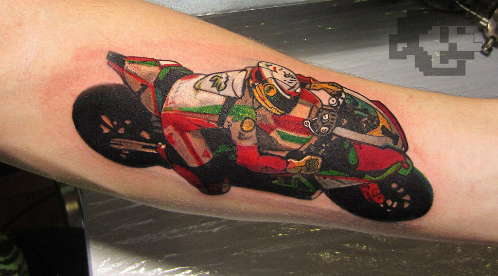 Motorcycle tattoo by tattooator on deviantart for Traditional motorcycle tattoo