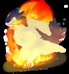 Typlosion uses Eruption by Patro-Trish