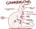 Grabbygons - New closed??species - Concept sheet
