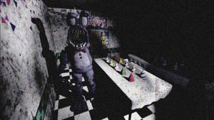 Withered Bonnie In Party Room 1
