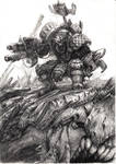 Ork-warboss with Gargantuan squiggoth