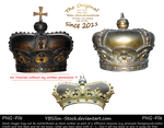 Crowns PNG by YBsilon-Stock