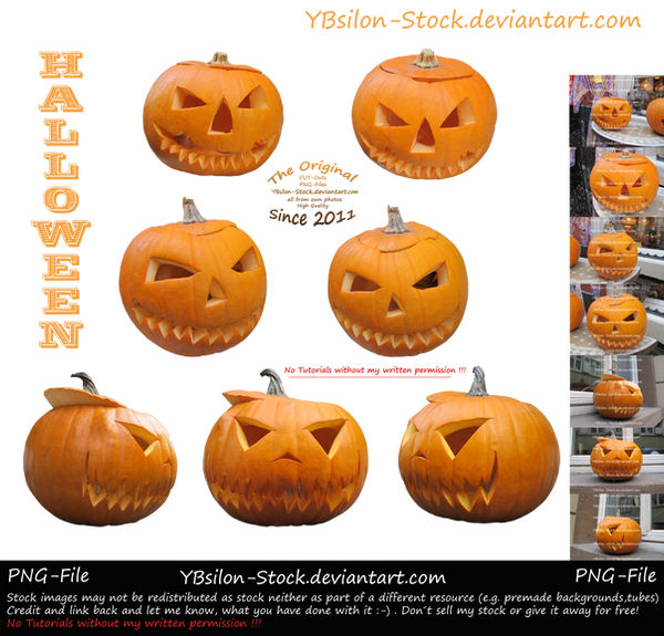 Halloween Pumpkins by YBsilon-Stock