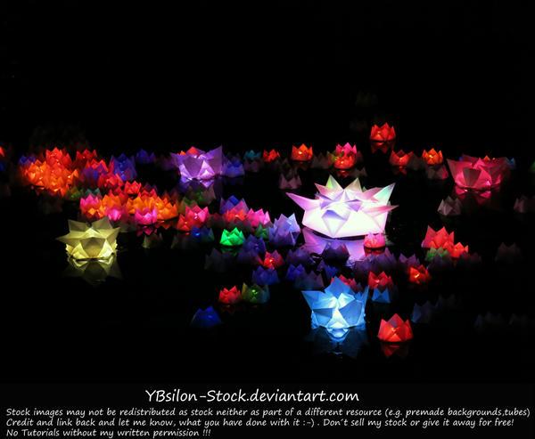 Bio-luminescent Lily Pond by YBsilon-Stock