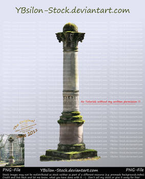 Column with moss by YBsilon-Stock