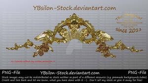 Golden Tiara with wings by YBsilon-Stock