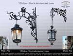 Black barock street lamps II by Ybsilon-Stock