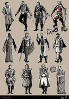 Dune Character Sketches by DuneFishUK
