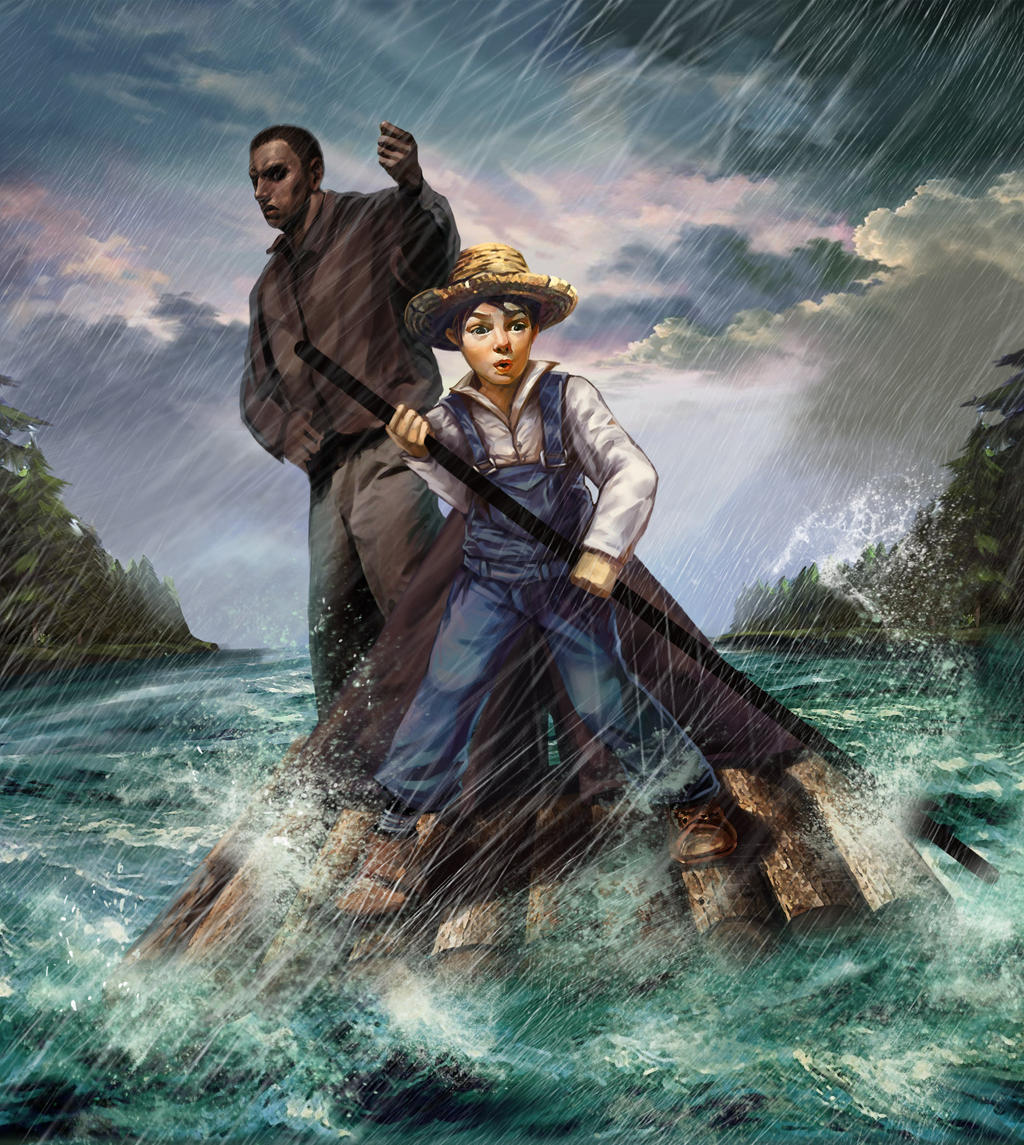 huckle berry finn On its surface, mark twain's the adventures of huckleberry finn is a straightforward story about a boy and a runaway slave floating down the mississippi river but underneath, the book—which was .