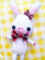 Felt : Pig Rabbit plush by CraftCandies