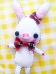 Felt : Pig Rabbit plush