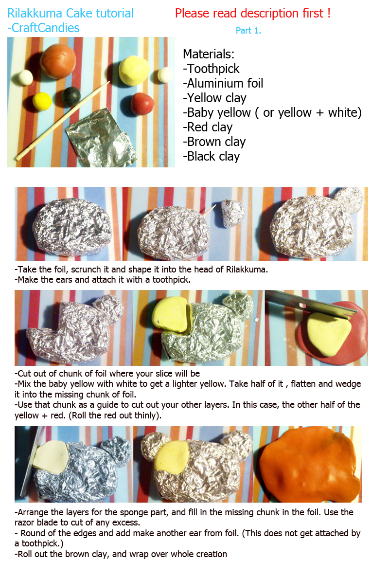 Polymer Clay : Rilakkuma Cake Tutorial - Part 1 by CraftCandies