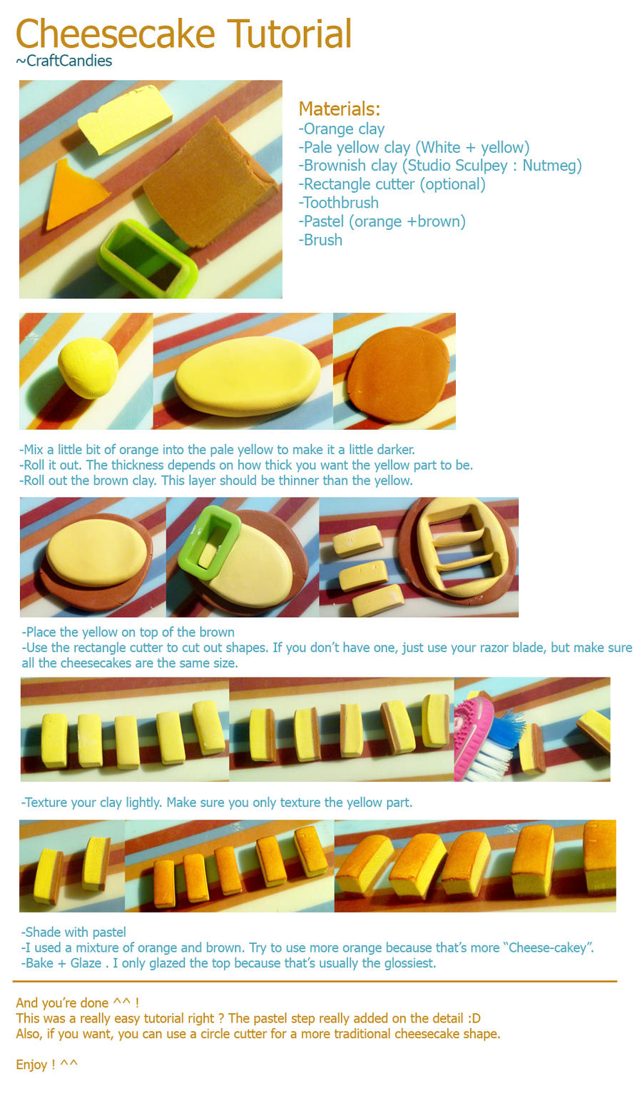 Polymer Clay Tutorial Cake Texture