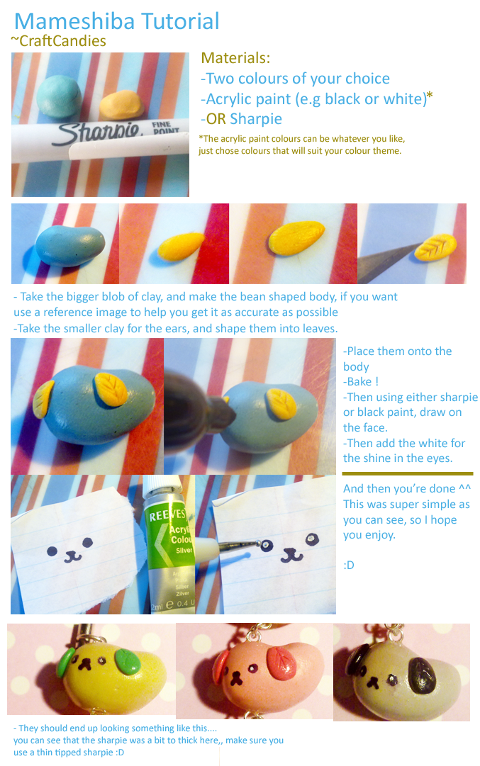 Polymer Clay : Mameshiba Tutorial by CraftCandies