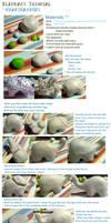 Polymer Clay : Elephant tutorial by CraftCandies