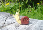 Polymer Clay : Adventure Time Waving snail