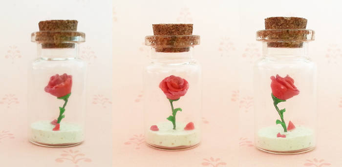 Polymer Clay : Beauty and the Beast Rose