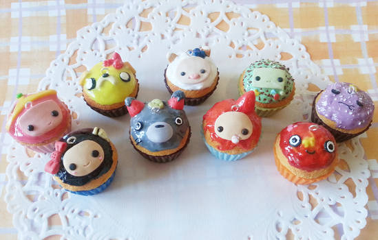 Adventure Time + Studio Ghibli character cupcakes