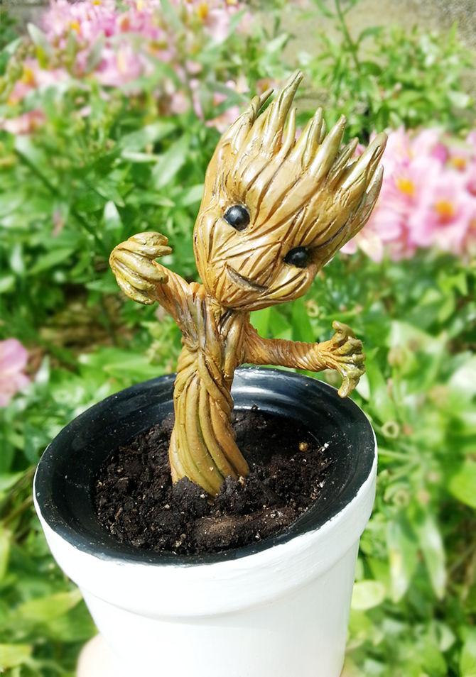 GotG: Baby Groot close up