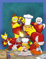 Robot Master Chefs by Cearius