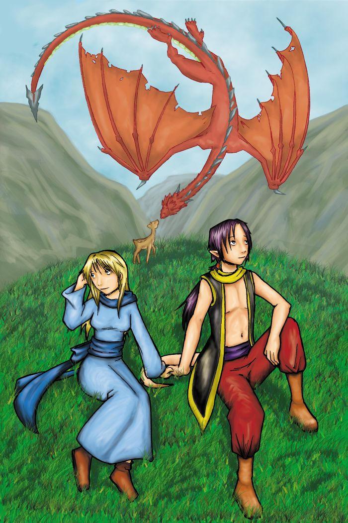 Dibujo dragon terminado