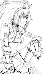 Monster Hunter: Armadura Kirin INK by karuchan87