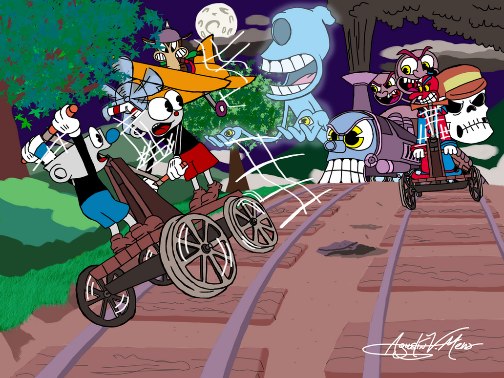 Handcar Chase by AVM-Cartoons