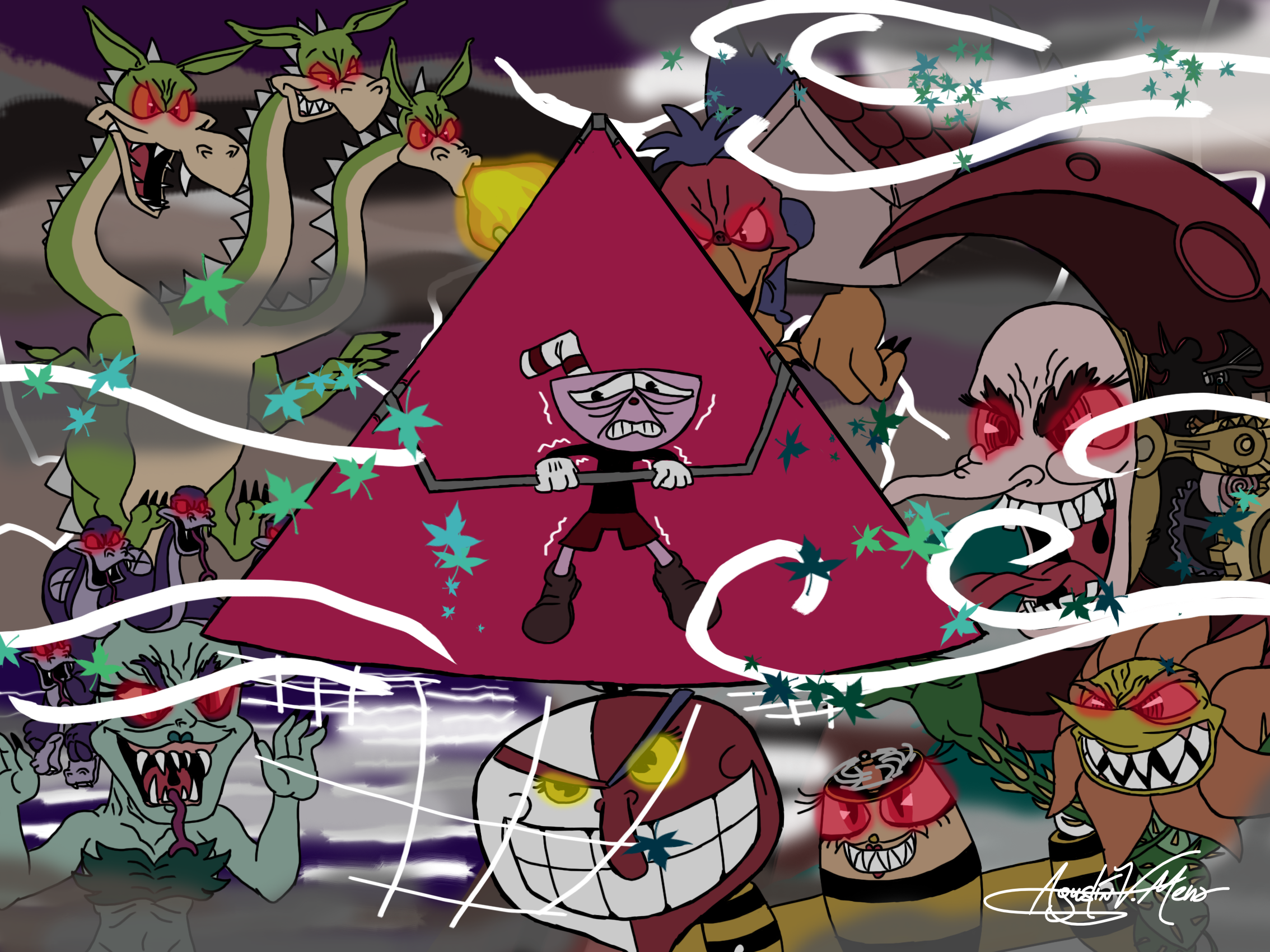 Cuphead's Nightmare by AVM-Cartoons