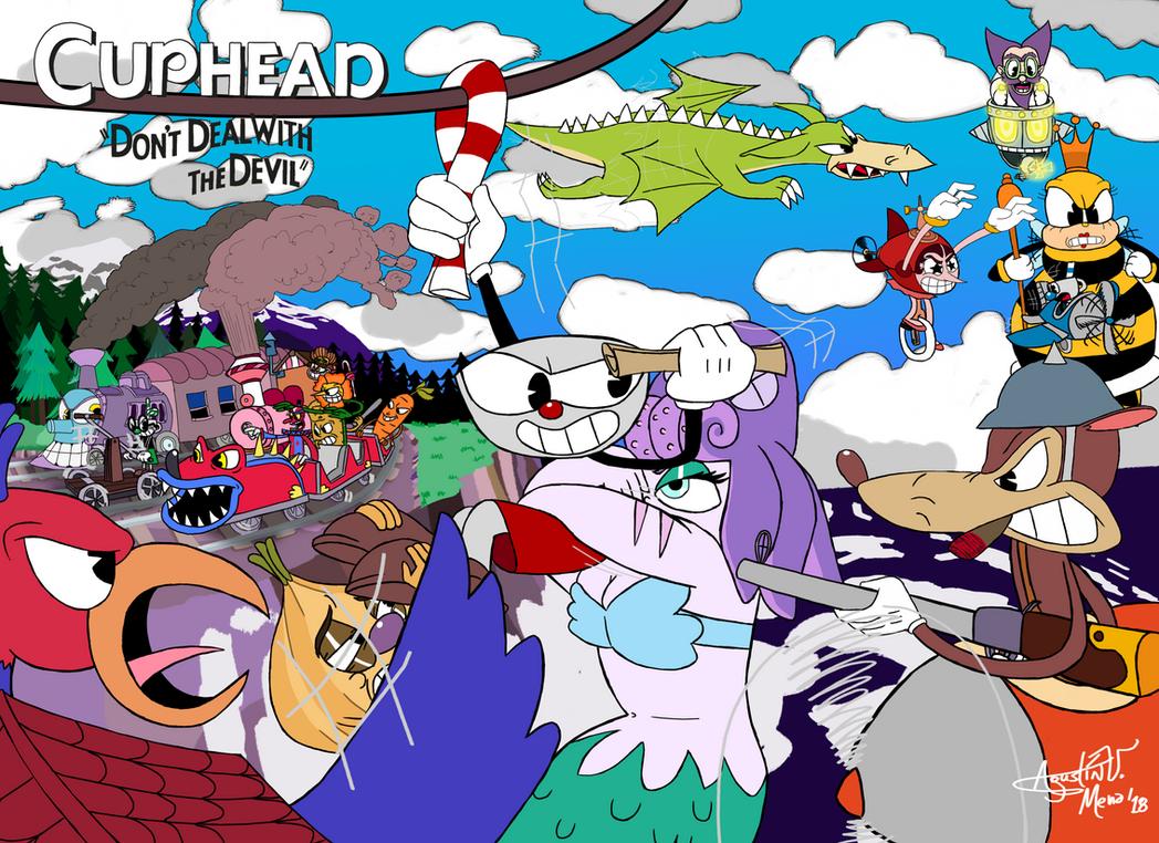 Cuphead - Run Cups Run by AVM-Cartoons