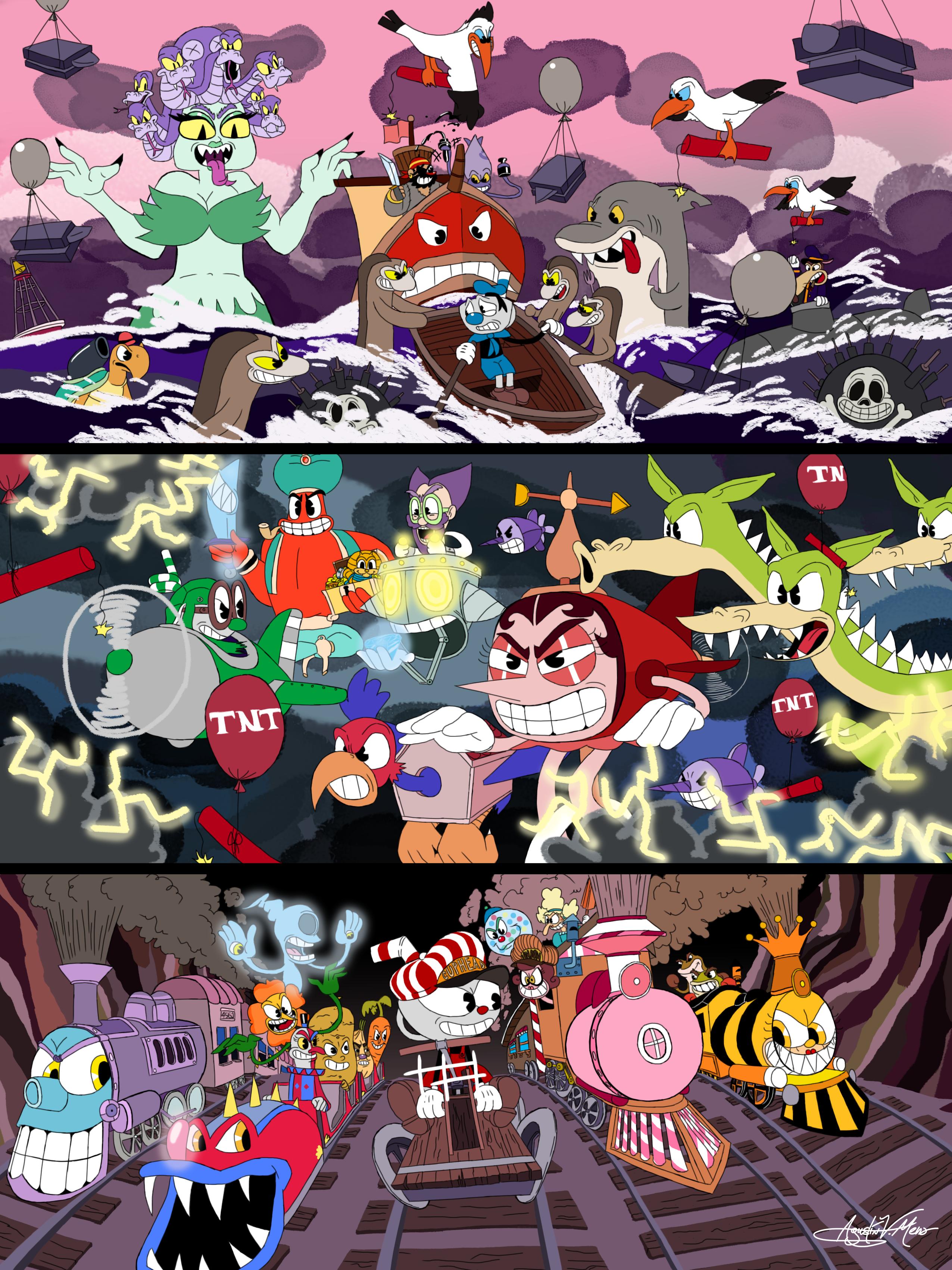 Cuphead Mini Games by AVM-Cartoons