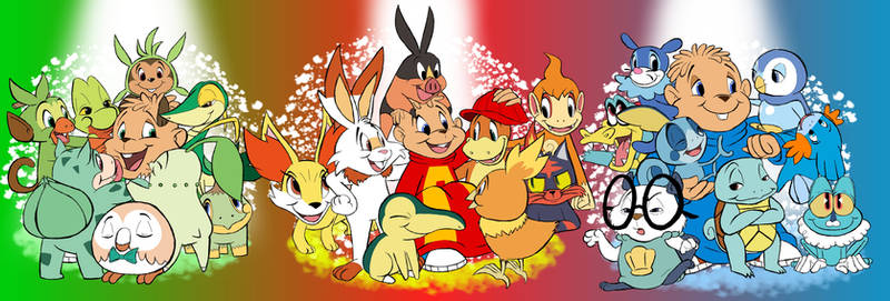 The Chipmunks and Pokemon Starters