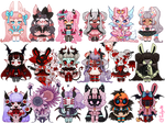 The Misfits Adoptable Batch [1/18 OPEN REDUCED]