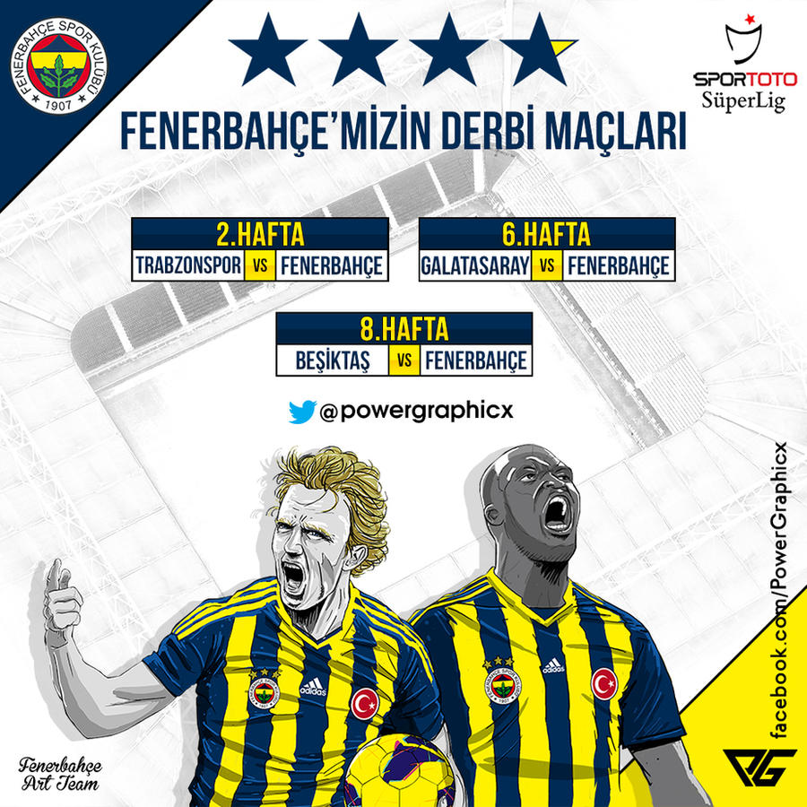 Fenerbahce 2014/2015 Sezonu Derbi Haftalari by Power-Graphic