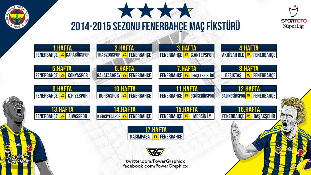 Fenerbahce 2014/2015 Sezonu Mac Fiksturu by Power-Graphic