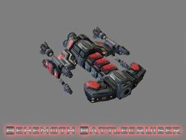 Terran Behemoth Class Battlecruiser by GhostNova91