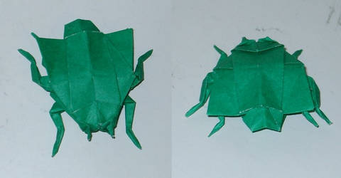Origami Housefly by Acsumama