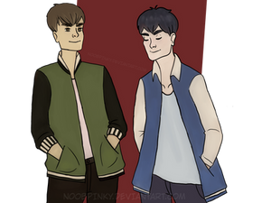 Redrawn Commission - Ash And Jake by fumstix