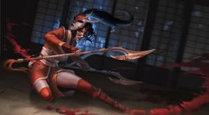 Bloodmoon Akali by LanAzure