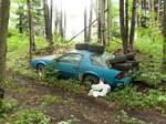 Abandoned Blue Car 1