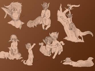 Doodle Dump 5 by MoonlitFoxFeathers