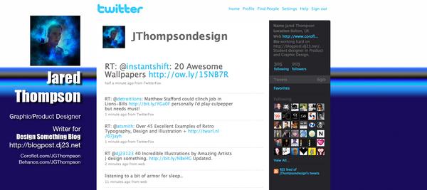 My twitter background design by torado